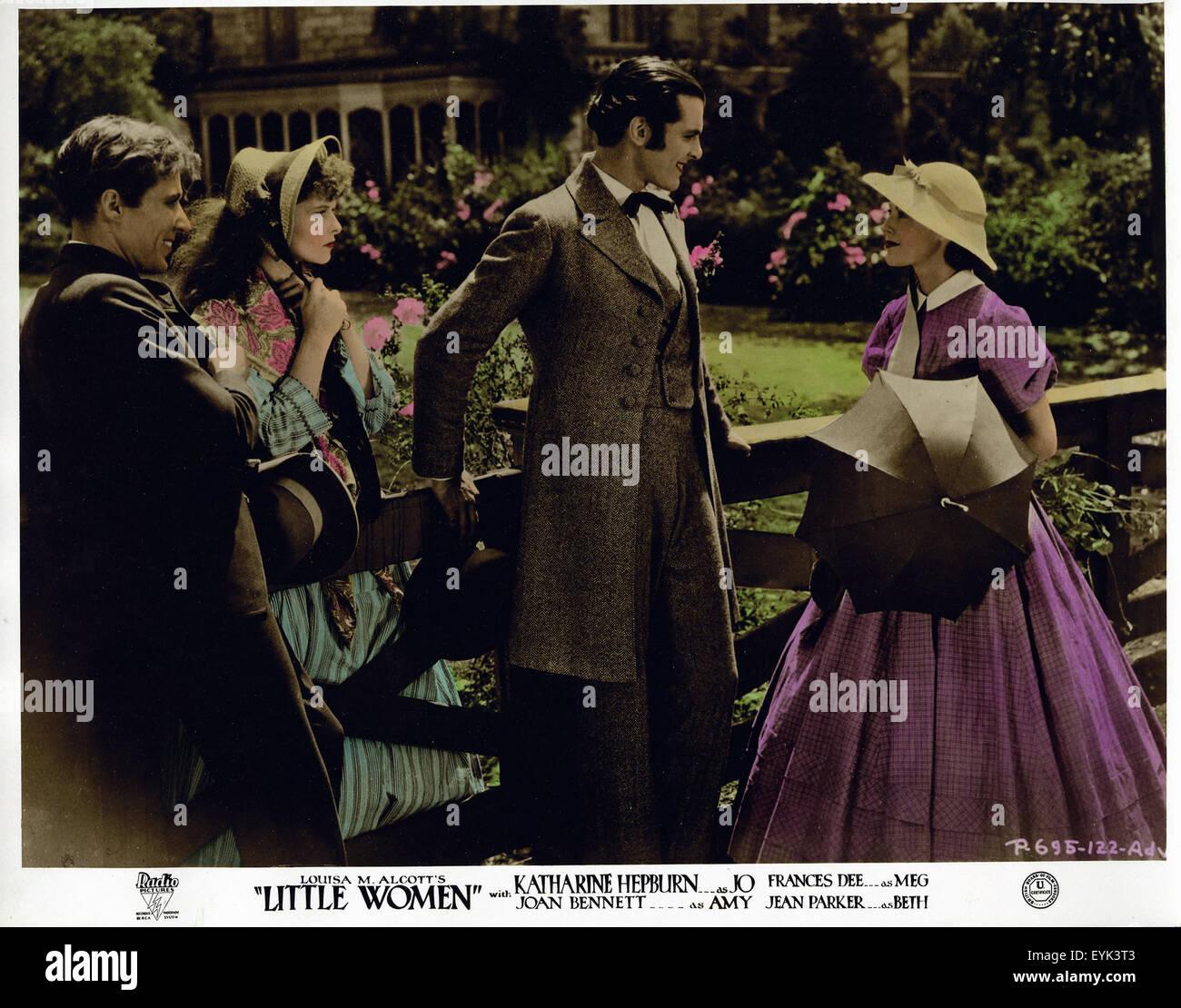Little Women - Katharine Hepburn - 1933 - Movie Poster - Stock Image