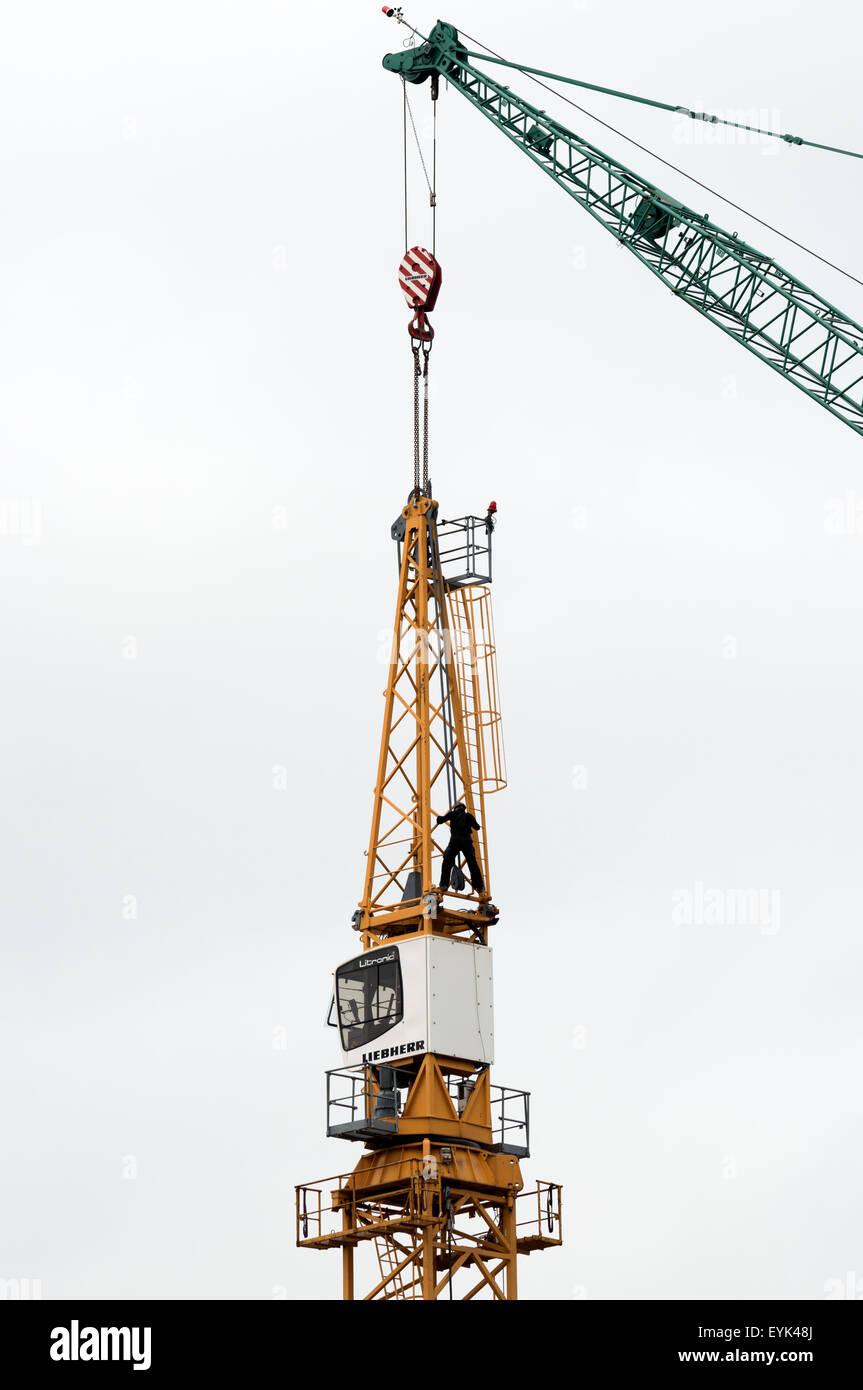 Tower Crane Liebherr Stock Photos & Tower Crane Liebherr