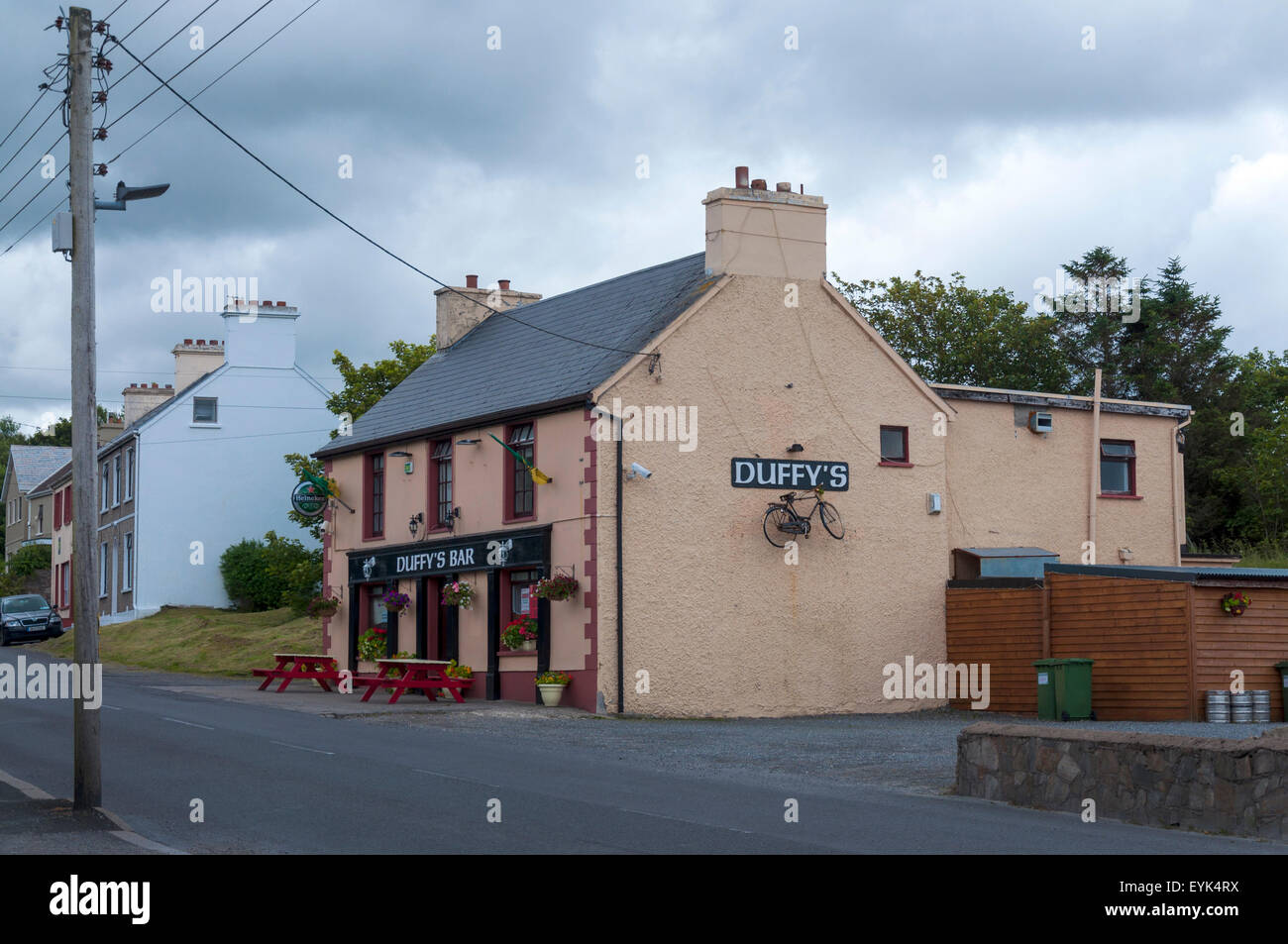 Duffy's Bar Teach Conal in Annagry County Donegal Ireland - Stock Image