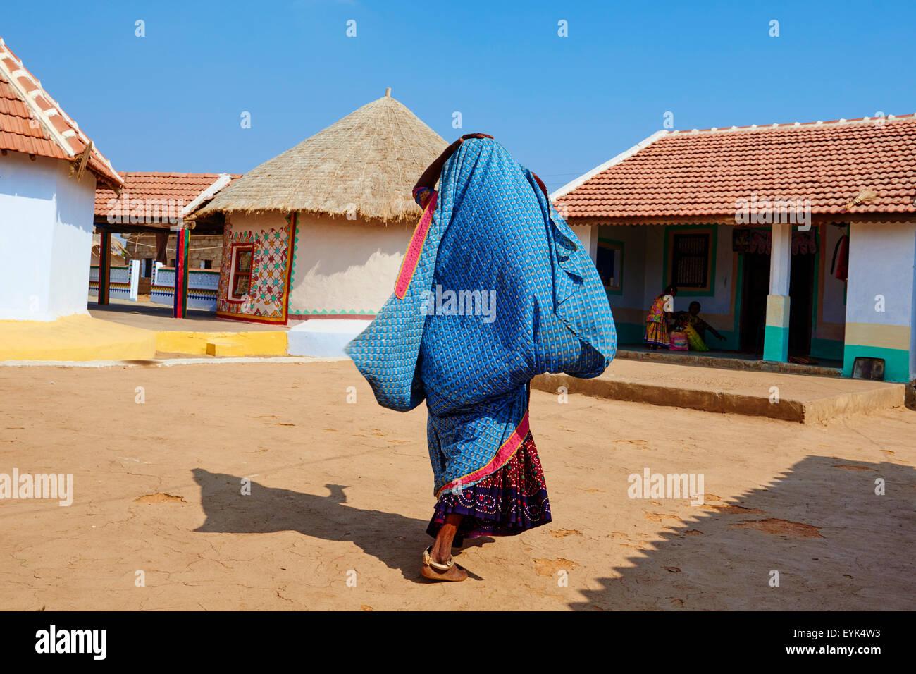 India, Gujarat, Kutch, Ludia village, Harijan ethnic group - Stock Image