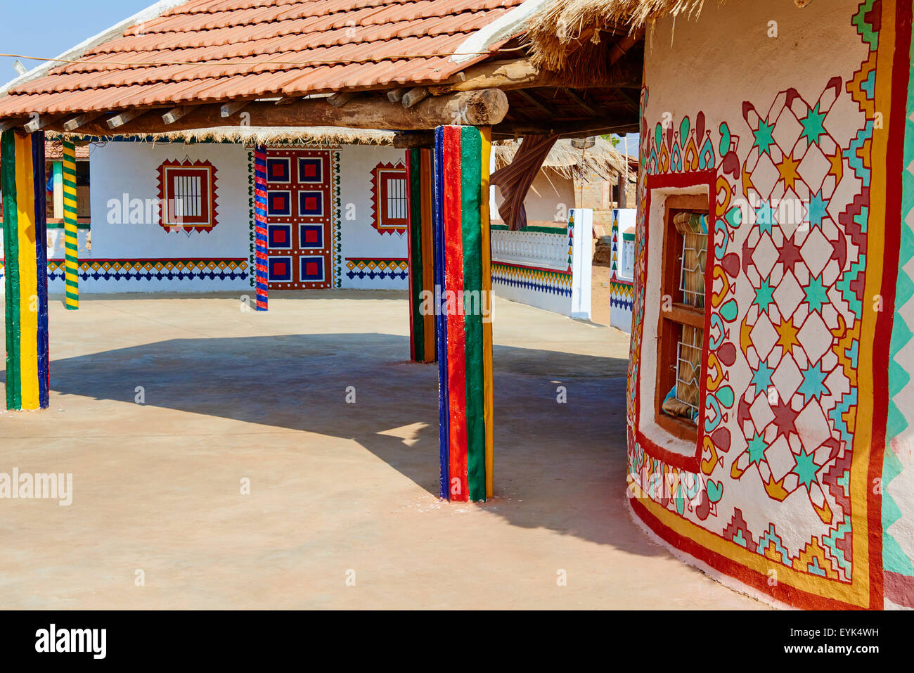 India, Gujarat, Kutch, Ludia village, Harijan ethnic group - Stock Image