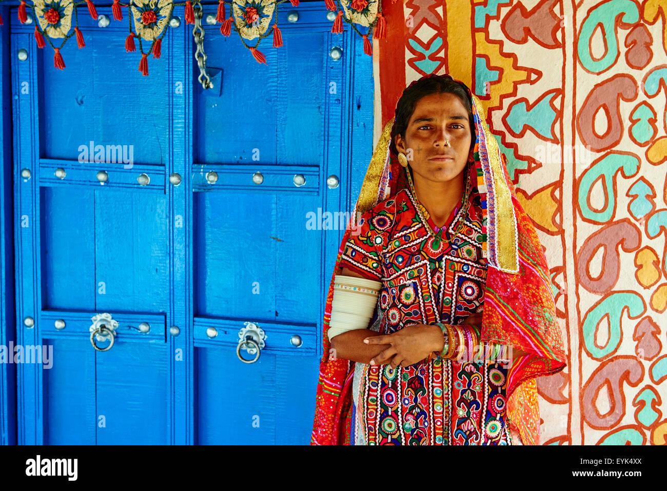 India, Gujarat, Kutch, Hodka village, Harijan ethnic group - Stock Image