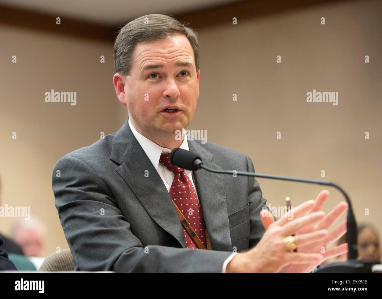 Austin, Texas USA July 30, 2015:Brandon Wood of the Texas Commission