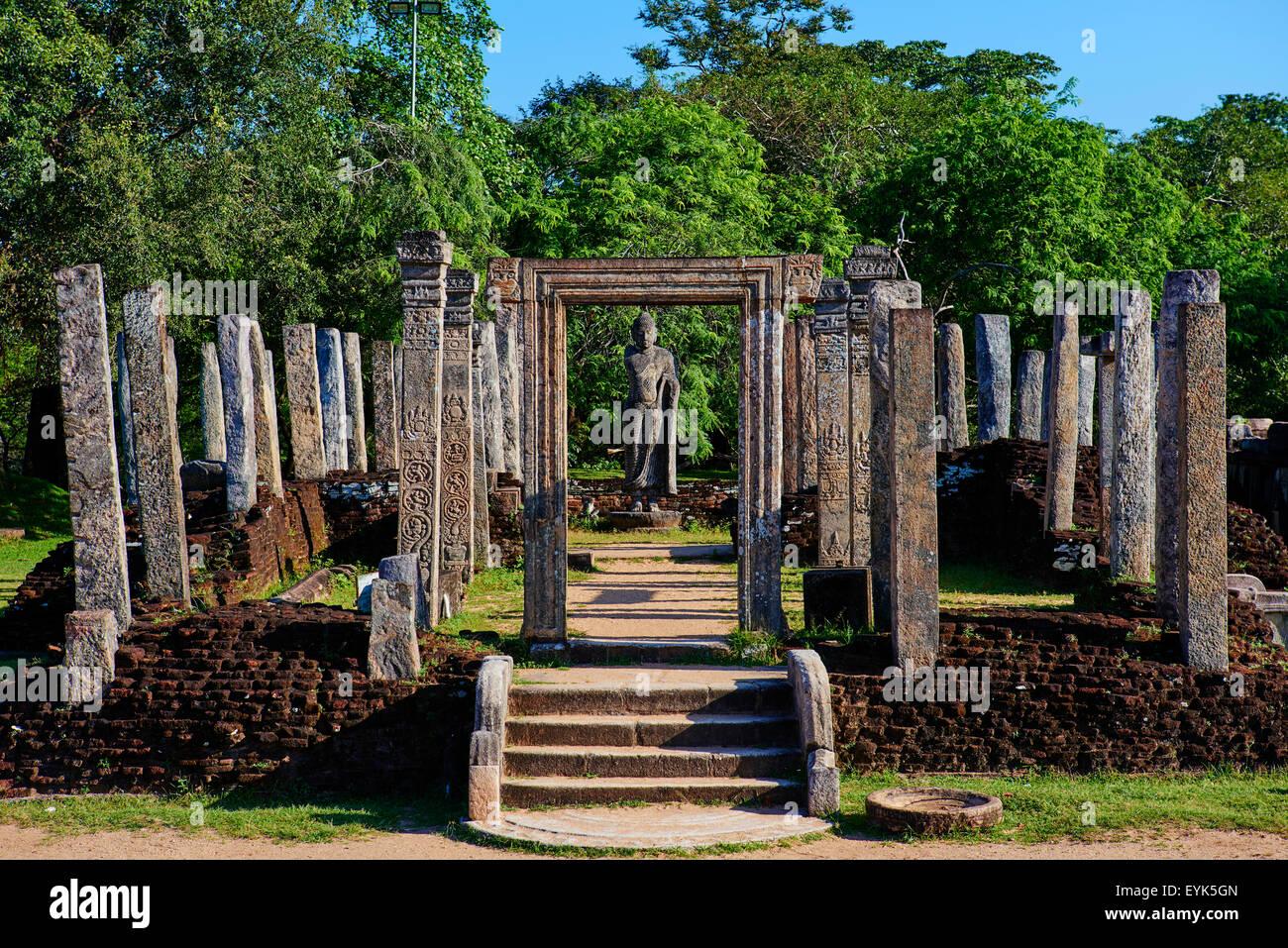 Sri Lanka, Ceylon, North Central Province, ancient city of Polonnaruwa, UNESCO World Heritage Site, quadrangle, - Stock Image