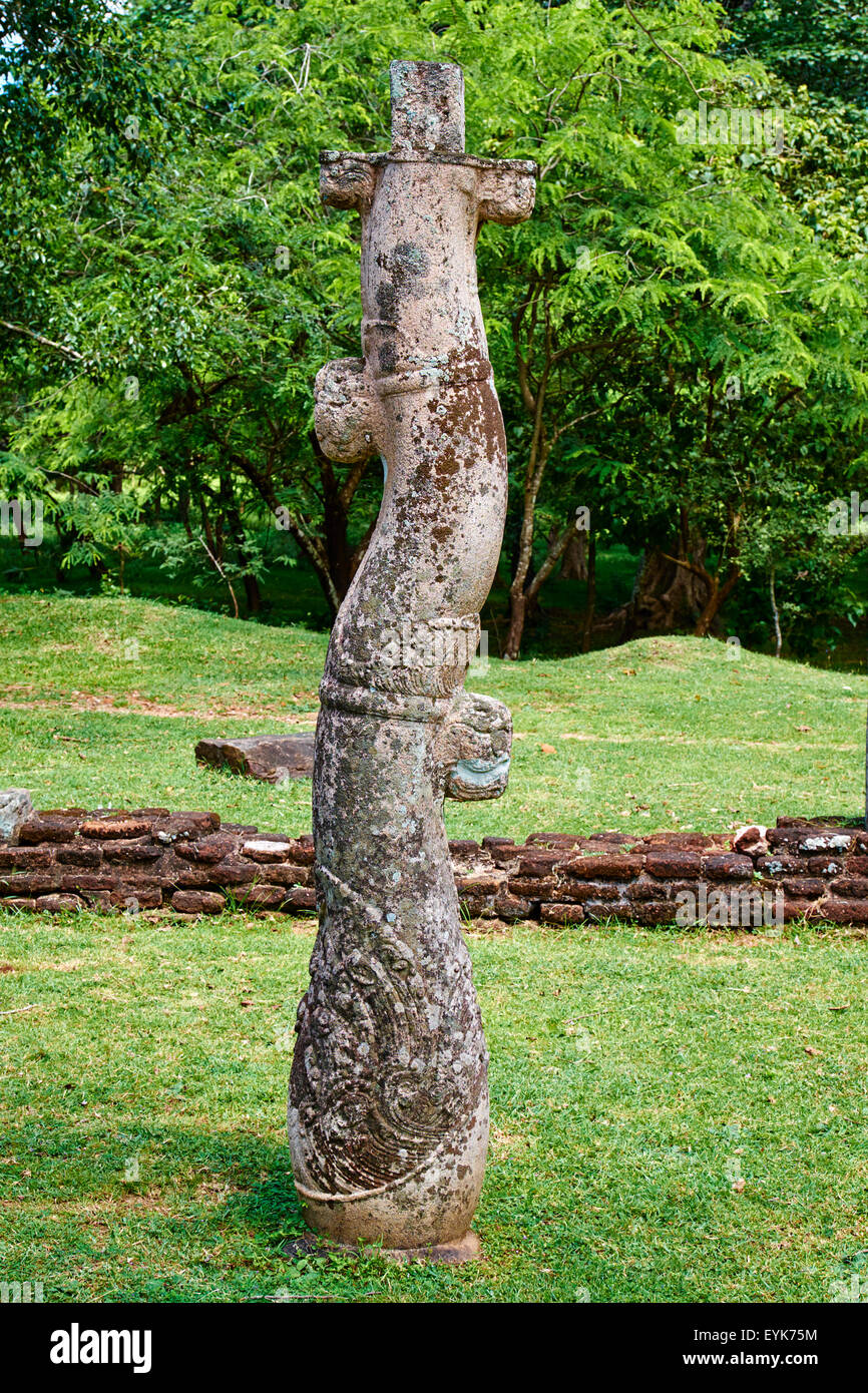 Sri Lanka, Ceylon, North Central Province, ancient city of Polonnaruwa, UNESCO World Heritage Site, quadrangle - Stock Image
