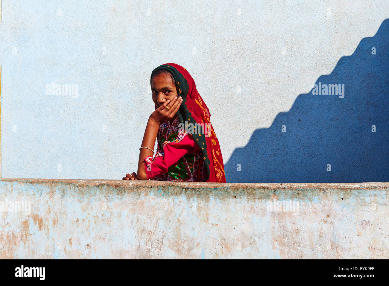 India, Gujarat, Kutch, Padhar village, Ahir ethnic group Stock Photo