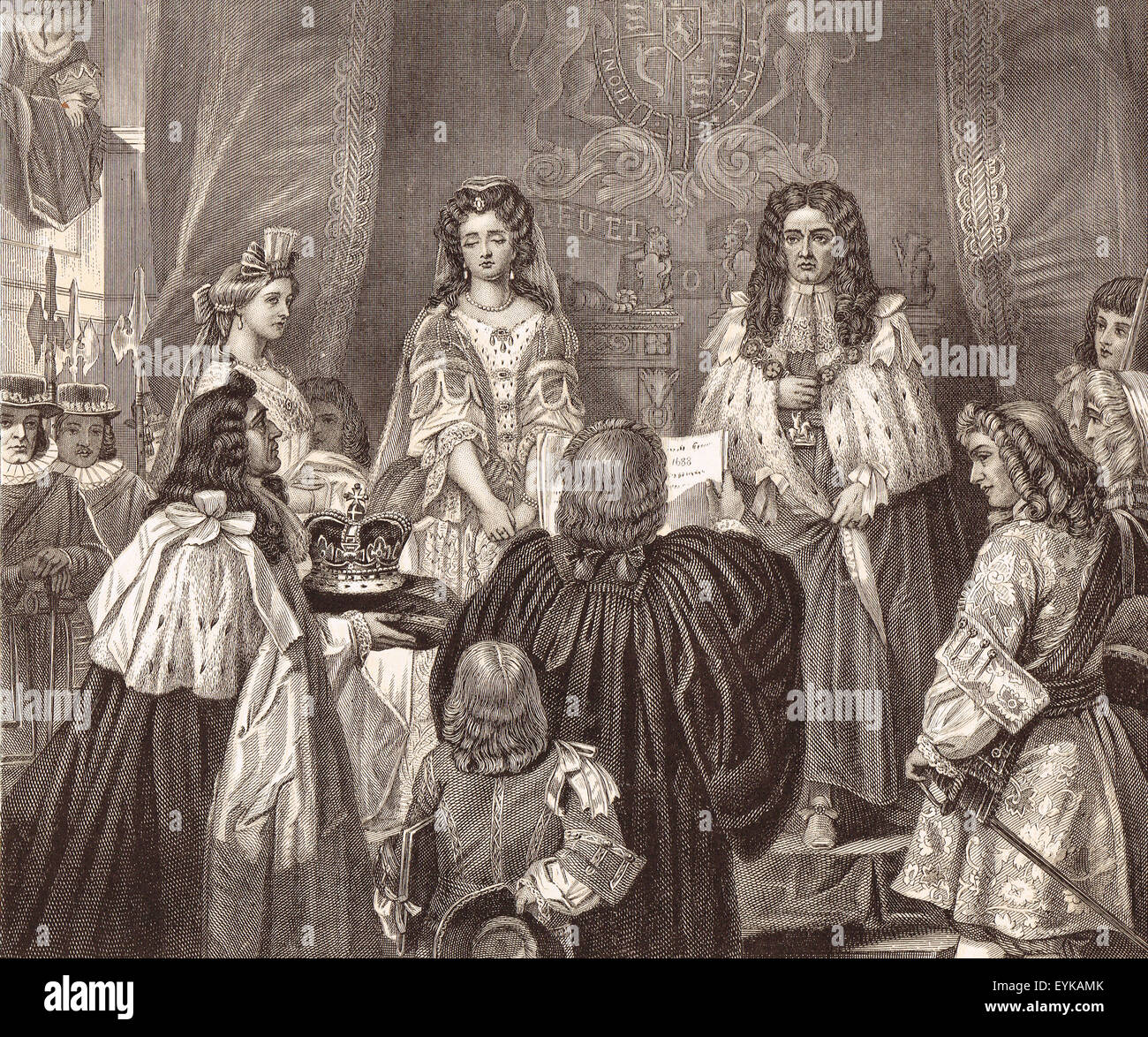 William of Orange & Mary offered the Crown 1689