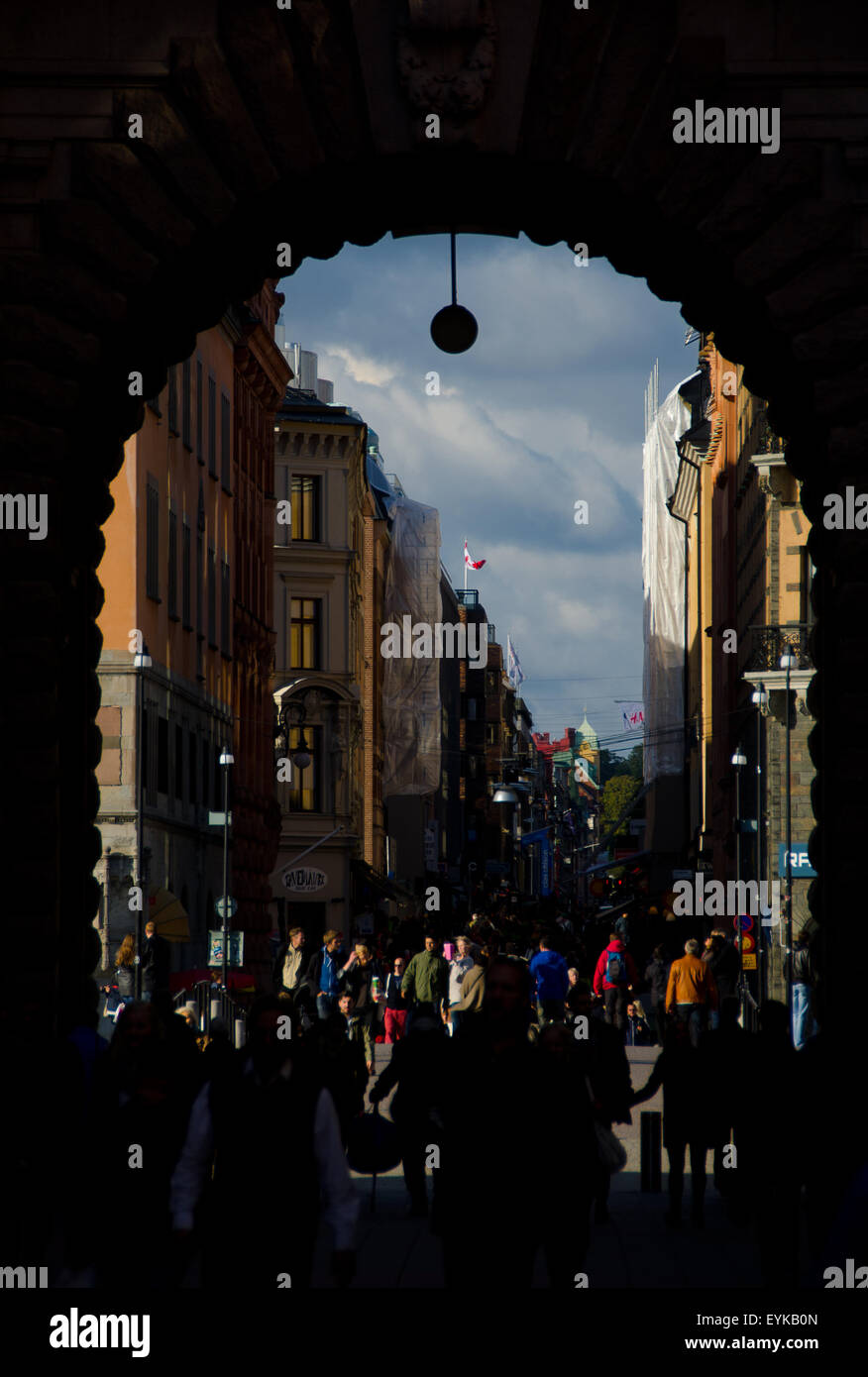 Young and modern vibe in Stockholm. - Stock Image