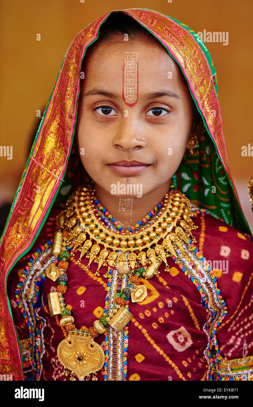 India, Gujarat, Kutch, Padhar village, Ahir ethnic group Stock Photo