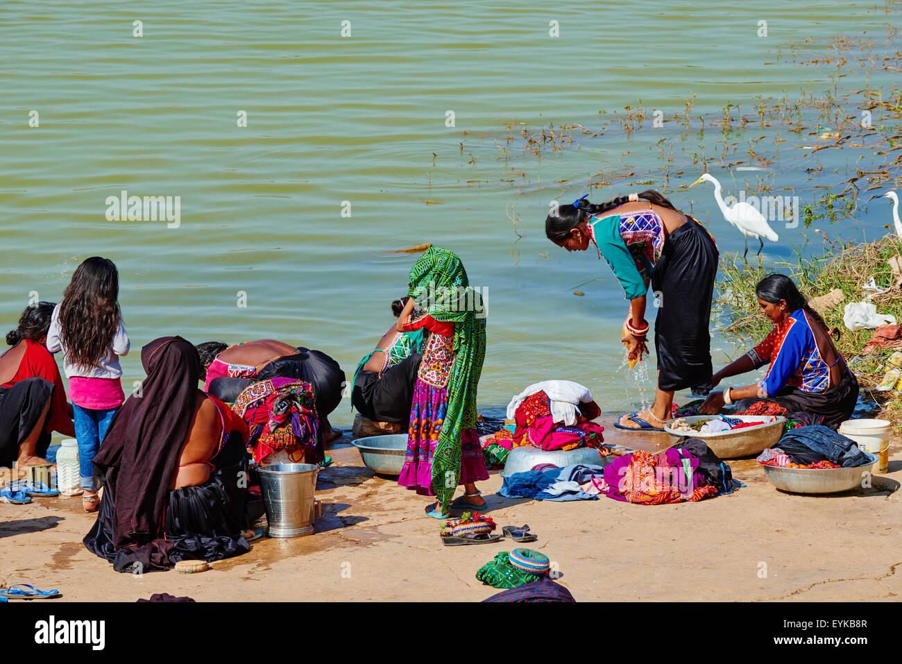 India, Gujarat, Kutch, Padhar village, Ahir ethnic group