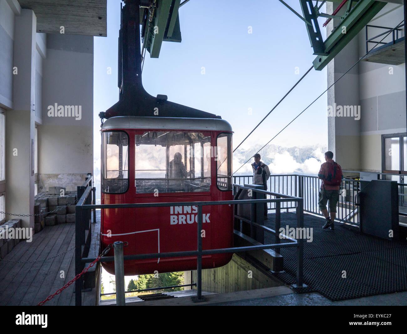 Patscherkofelbahn cable car in Innsbruck, Tirol, Austria Stock Photo