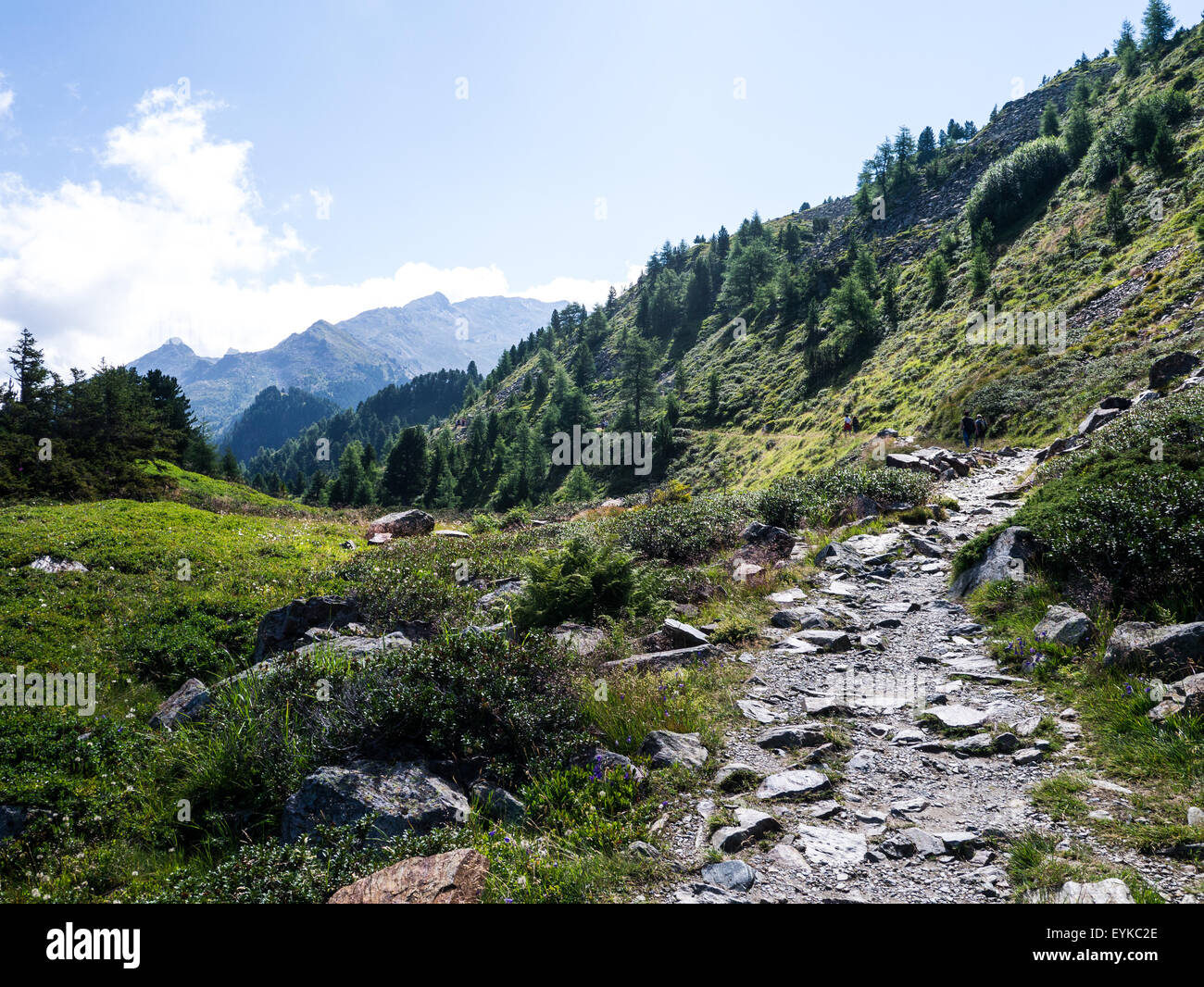Hiking on Mount Patscherkofel, near Innsbruck, Tirol, Austria Stock Photo