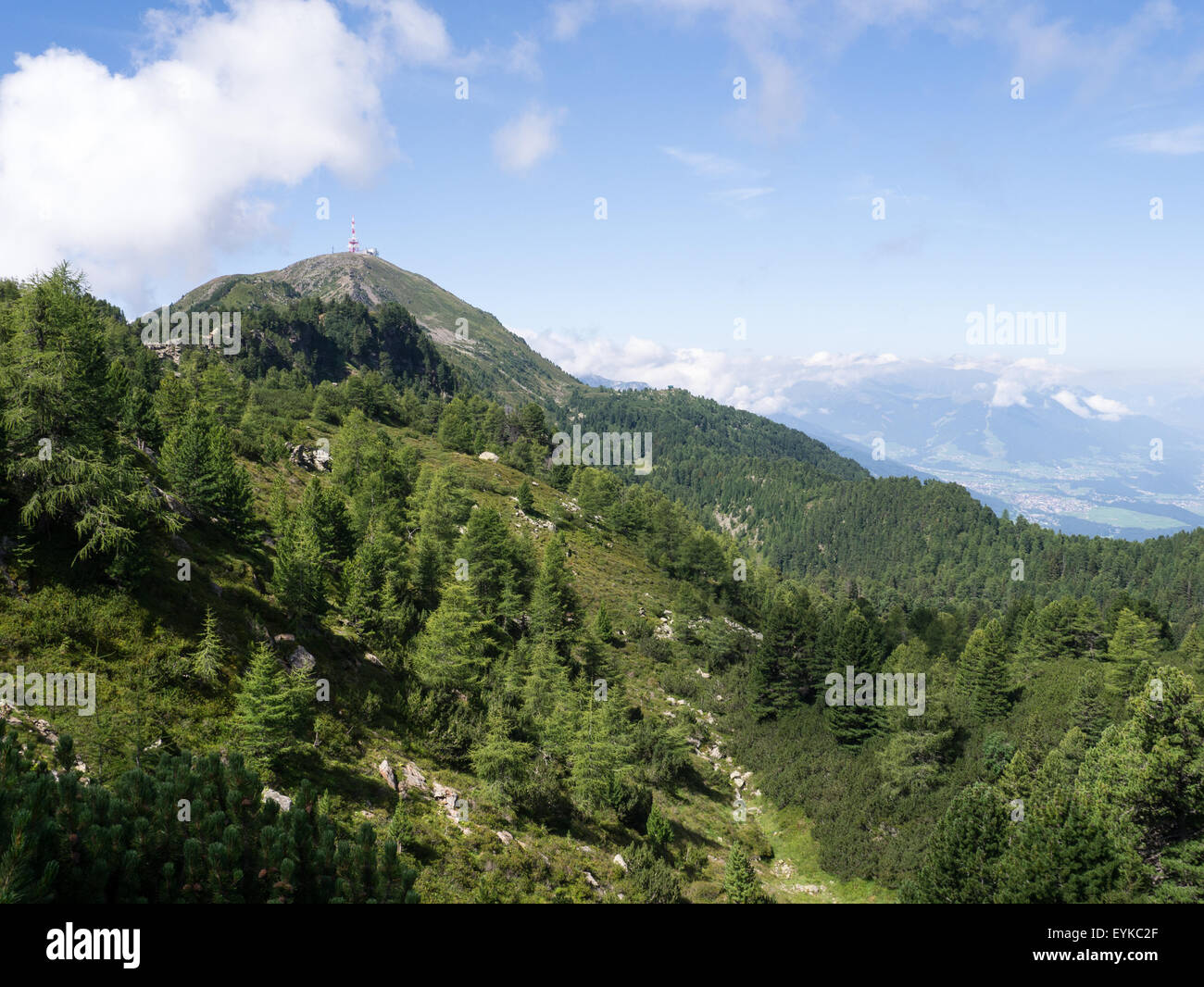 View Patscherkofel mountain in Innsbruck, Tirol, Austria Stock Photo