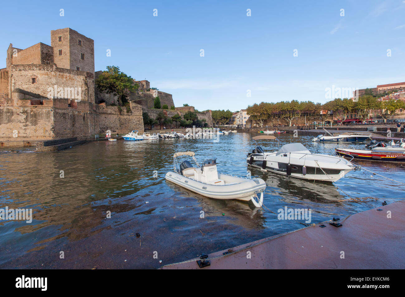The historic Chateau in France's Collioure. Stock Photo