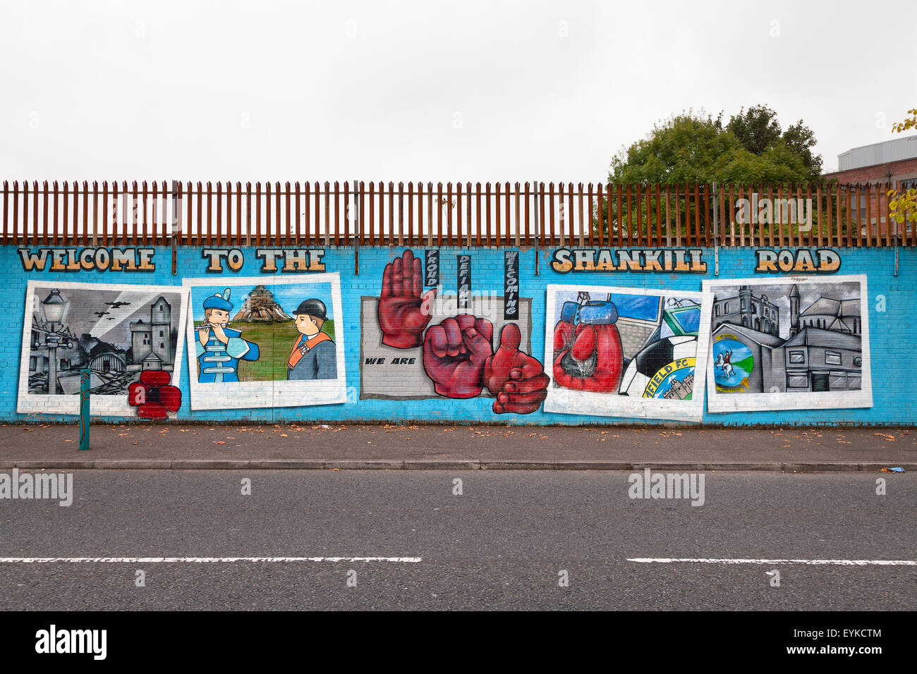 Welcome to Shankill Road mural, Belfast - Stock Image