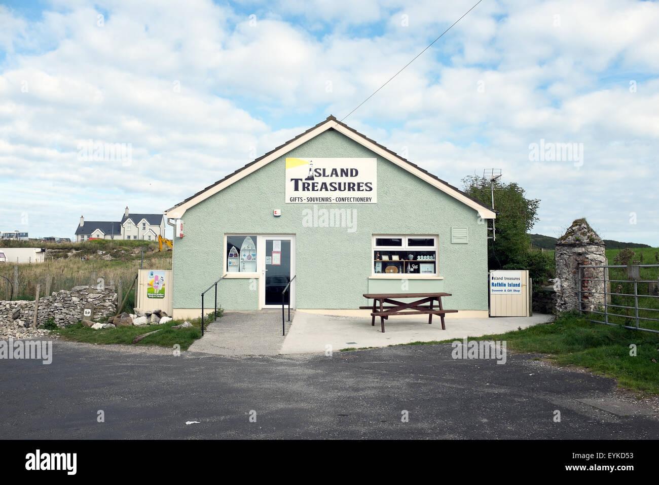 Small souvenir shop on Rathlin Island, Northern Ireland - Stock Image