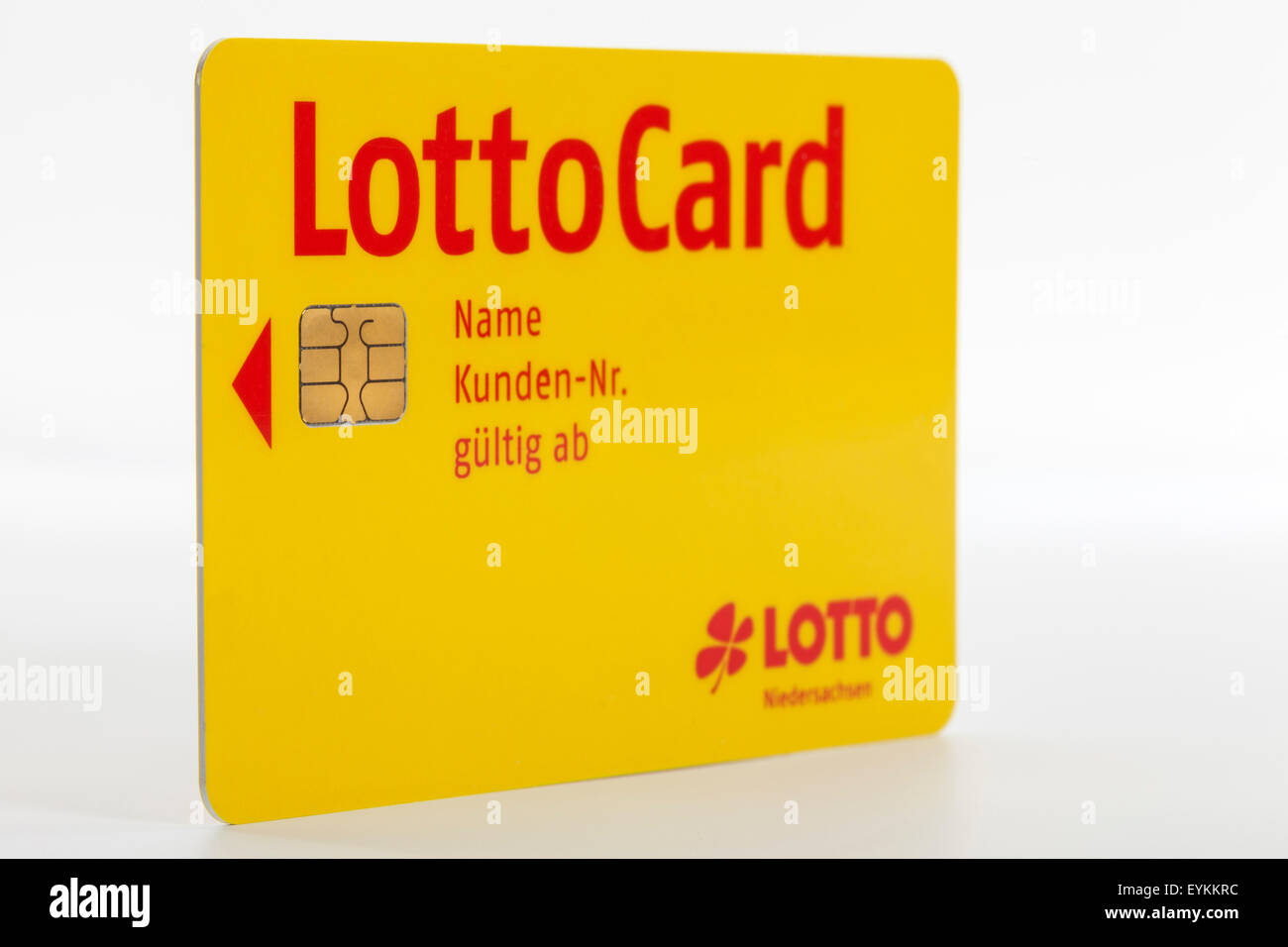 LottoCard Lower Saxony, account card, - Stock Image