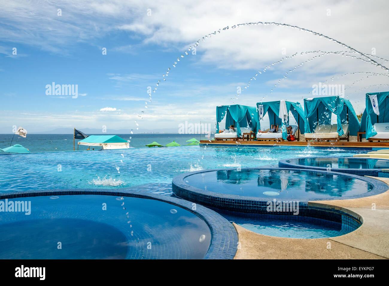 blue chair puerto vallarta. mantanar beach club swimming pool and lounge chairs; puerto vallarta, jalisco, mexico. blue chair vallarta e