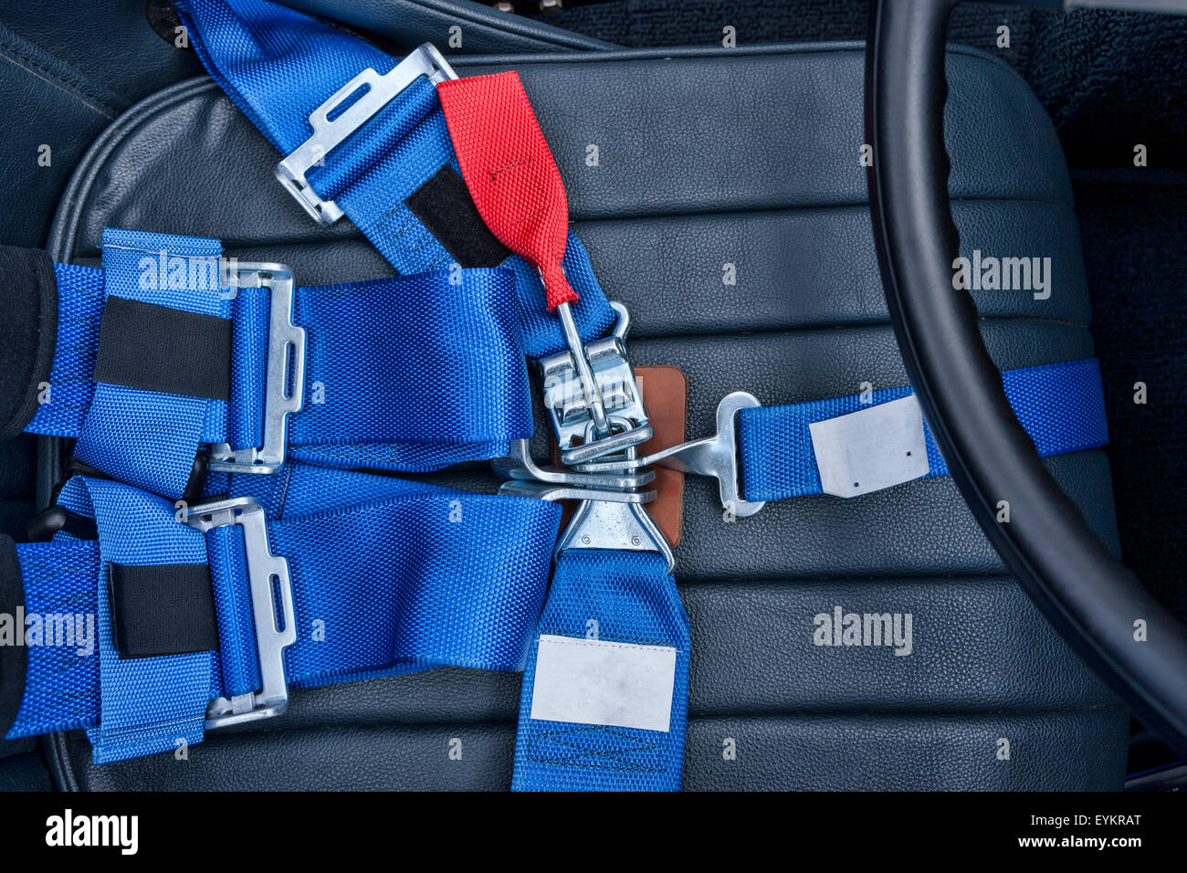 A safety harness for a seat belt. - Stock Image