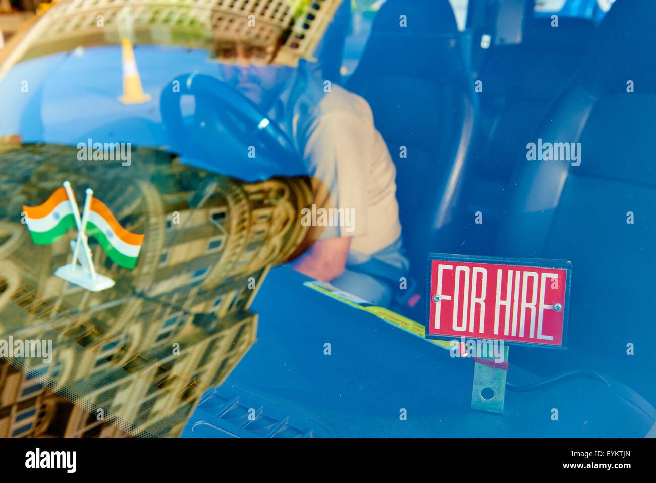India, Maharashtra, Mumbai (Bombay), taxi - Stock Image