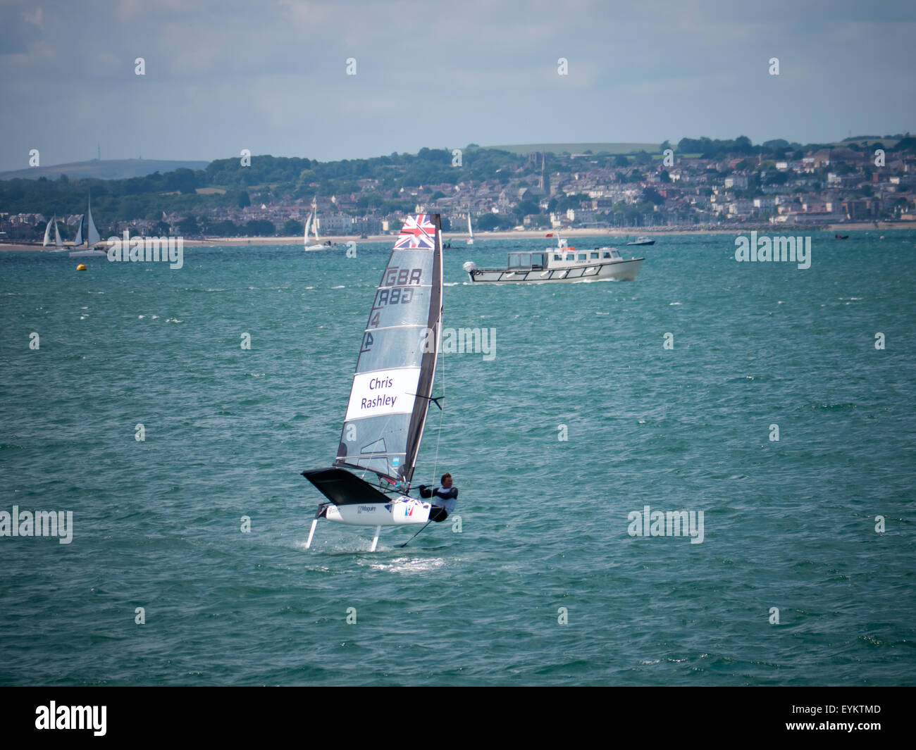 Chris Rashley Sailing His Moth Hydrofoil In The Solent