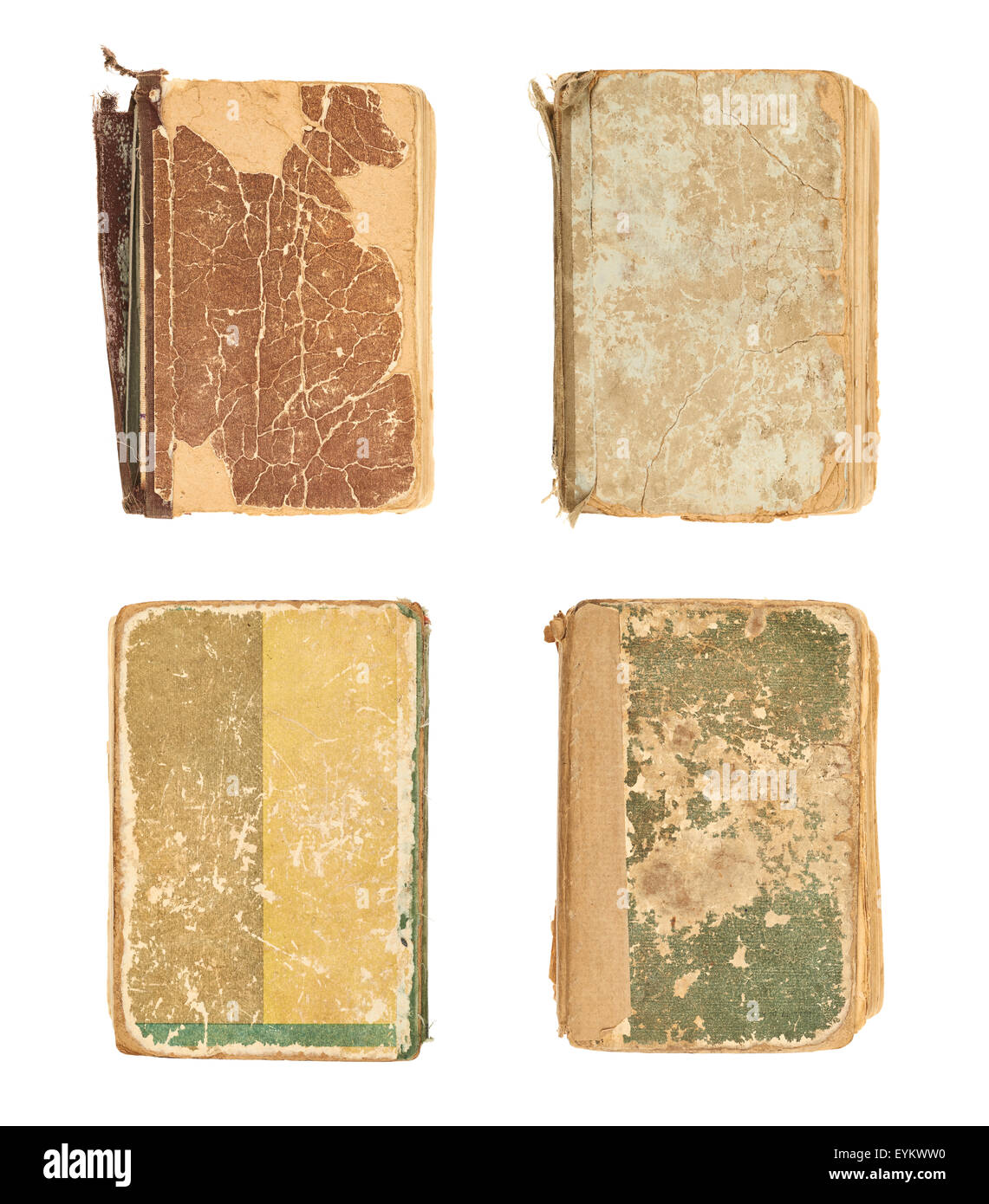 Old decrepit book cover - Stock Image