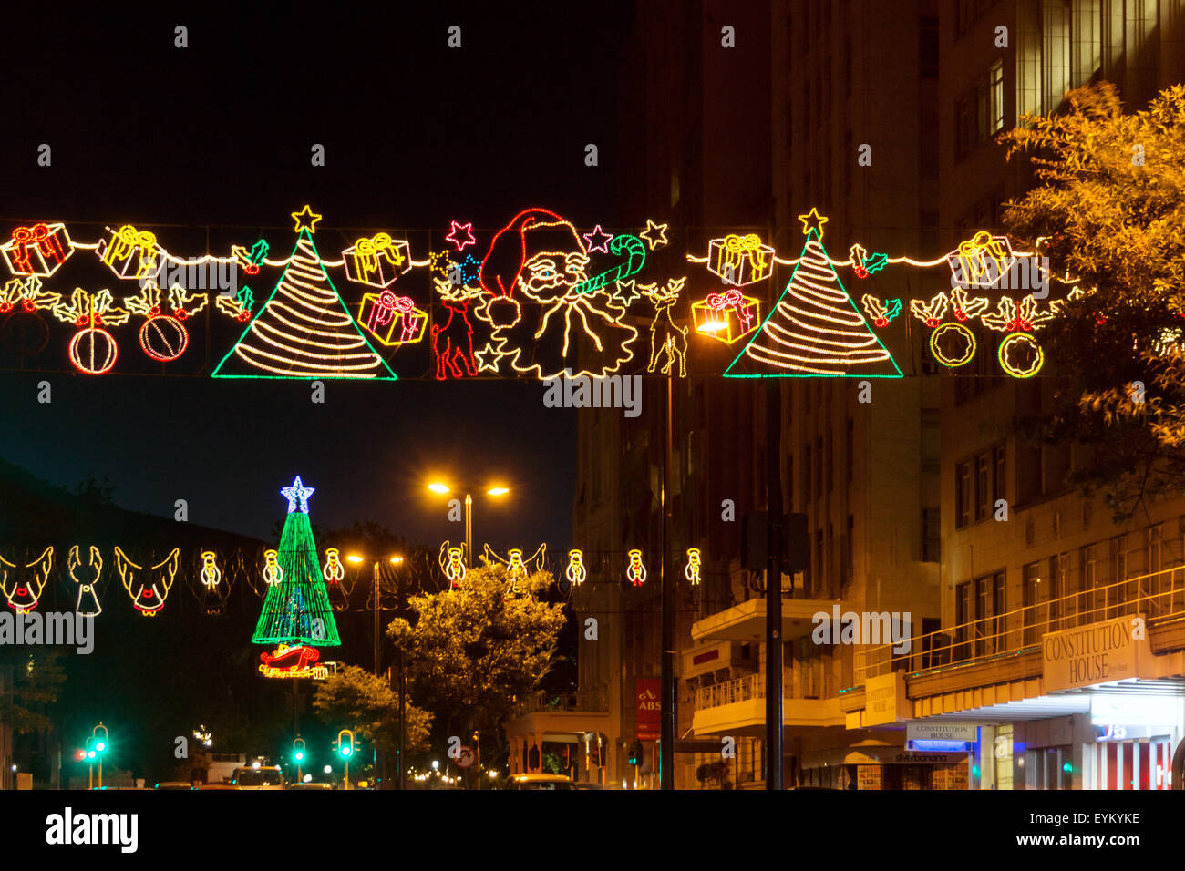 south africa capetown adderley street christmas lighting stock image - Christmas In South Africa