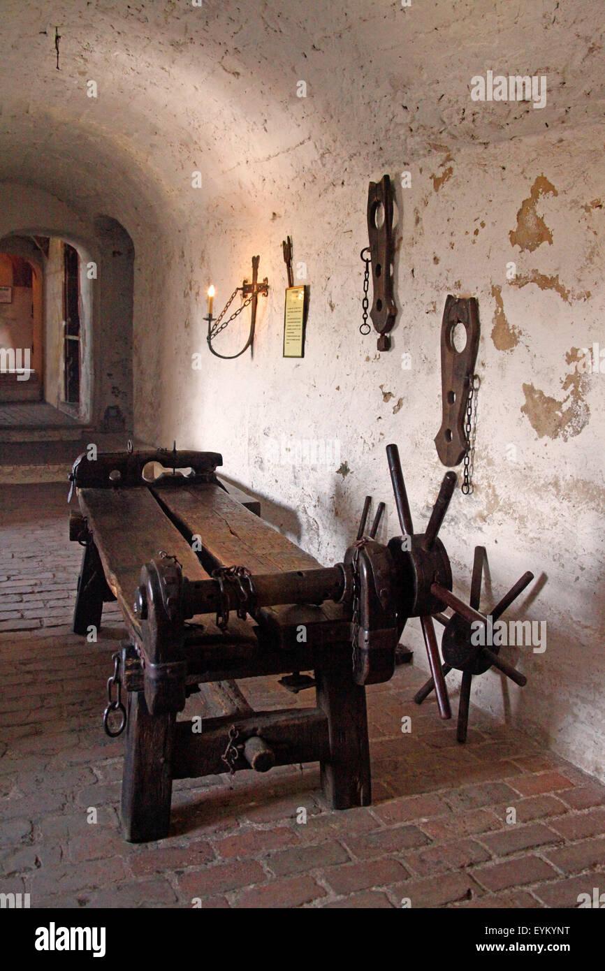Germany, Hessen - castle Ronne, torture chamber, Streckbank, - Stock Image
