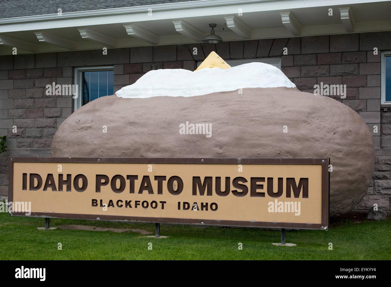 Blackfoot, Idaho - The Idaho Potato Museum. - Stock Image