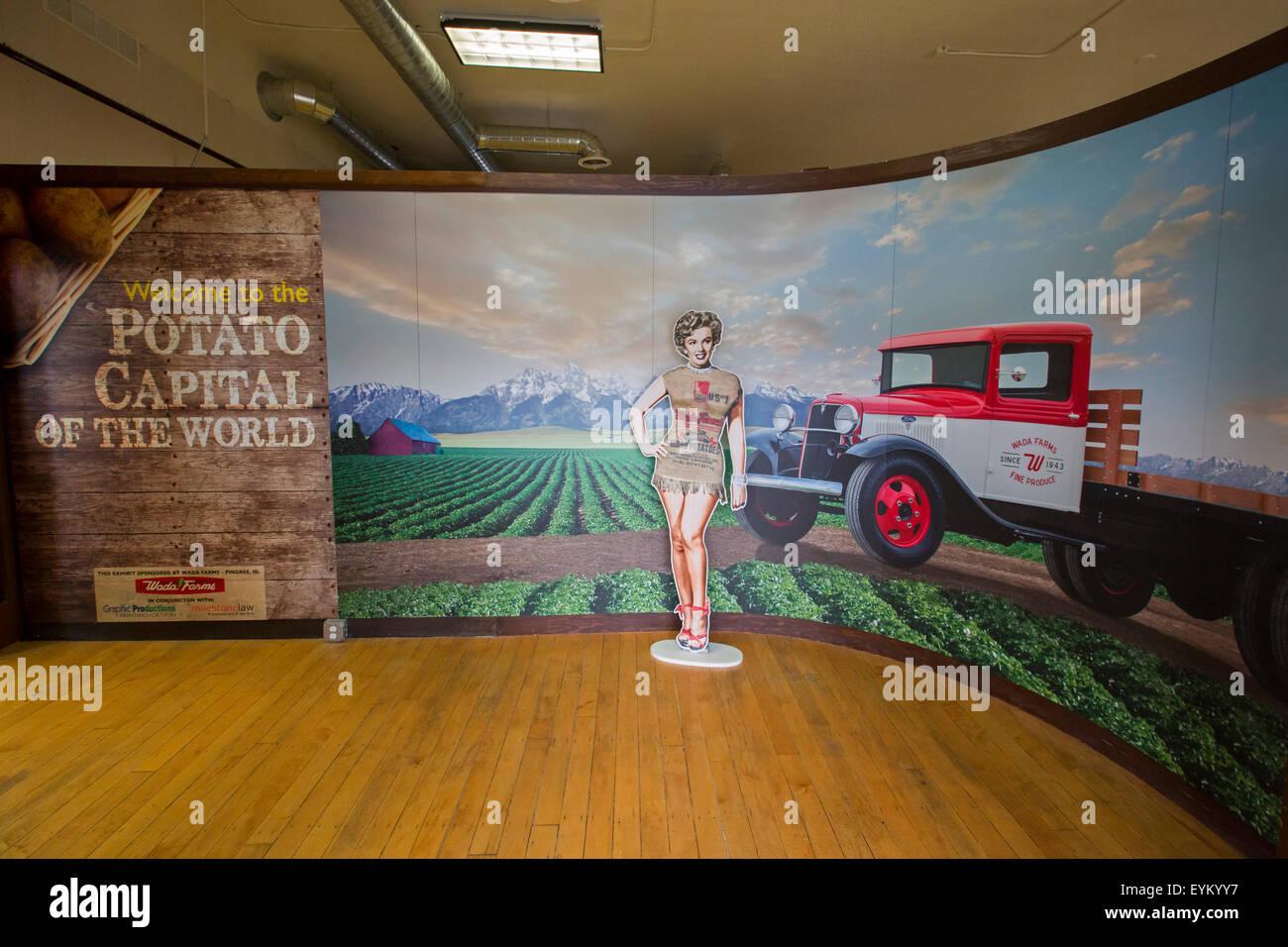 Blackfoot, Idaho - The Idaho Potato Museum. Stock Photo