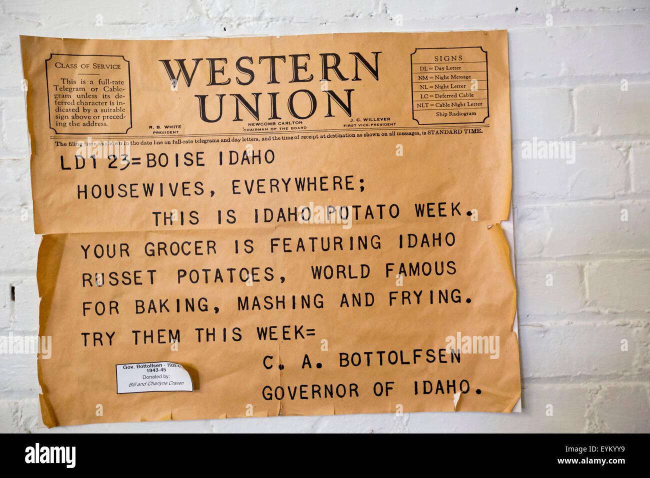 Idaho Potato Museum Stock Photos & Idaho Potato Museum Stock Images