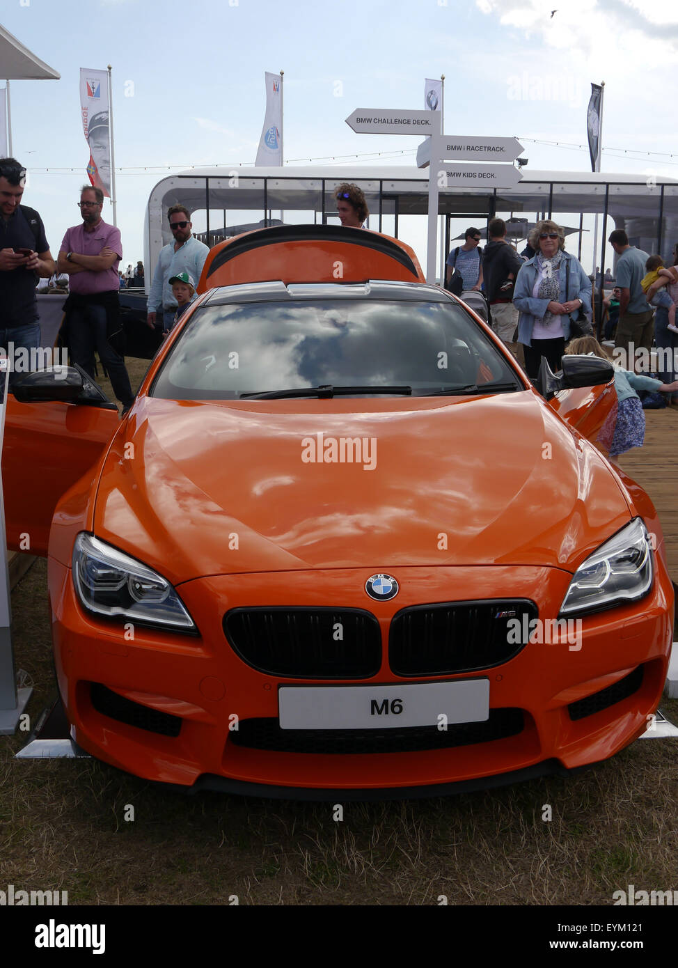 BMW M6 Coupé on display at a motorshow - Stock Image