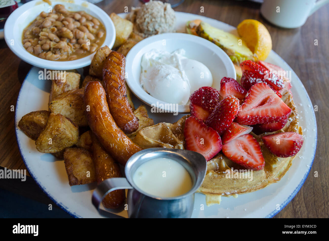 Typical canadian / american brunch - Stock Image