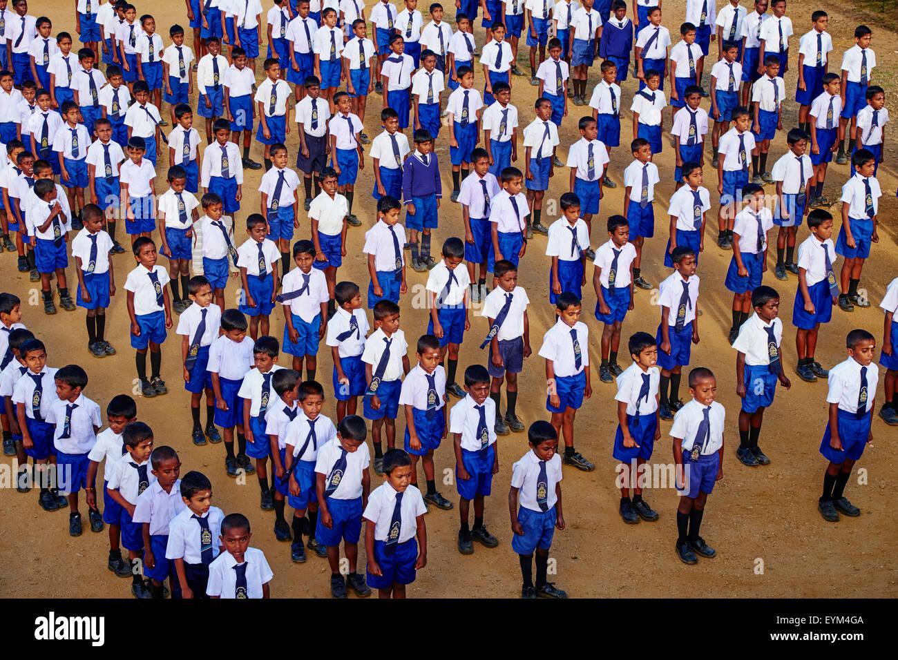 Sri Lanka, Ceylon, Central Province, Haputale, Dambatenna, Lipton's seat, shcool - Stock Image