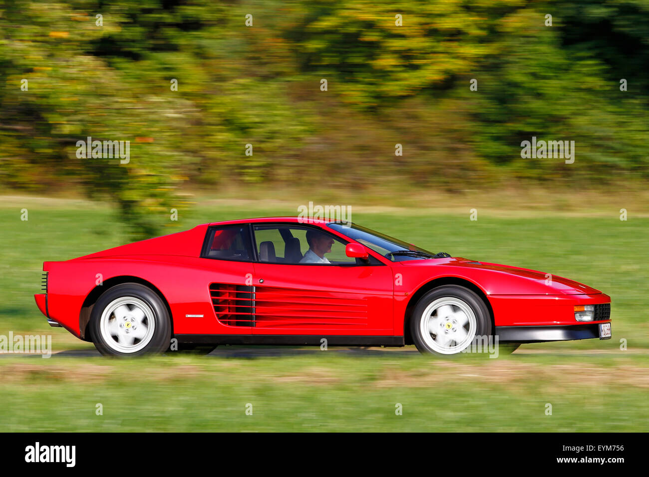 Car Ferrari Testarossa Vintage Car High Resolution Stock Photography And Images Alamy