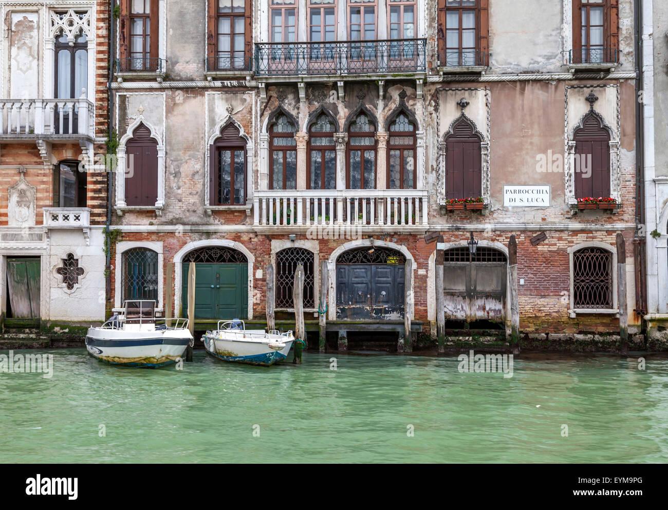 Am Canale Grande in Venedig - Stock Image