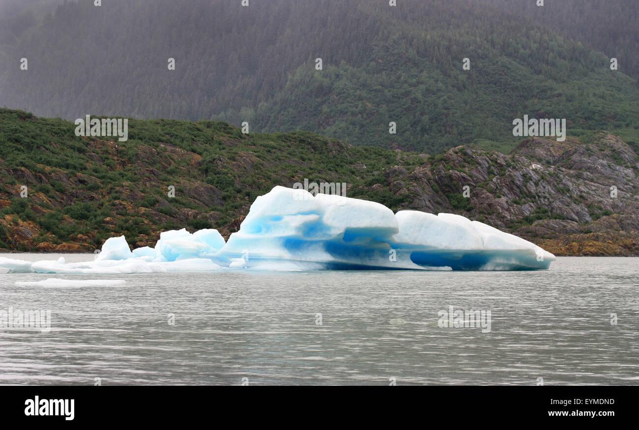 Iceberg in Mendenhall Glacier in Juneau Alaska - Stock Image