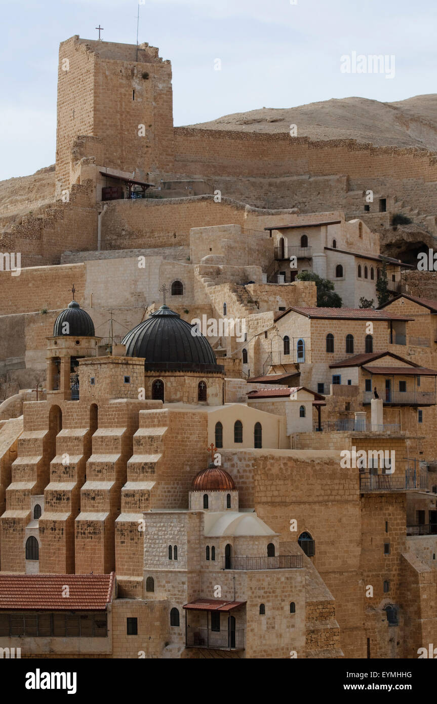 Mar Saba Monastery, Palestine, Israel - Stock Image