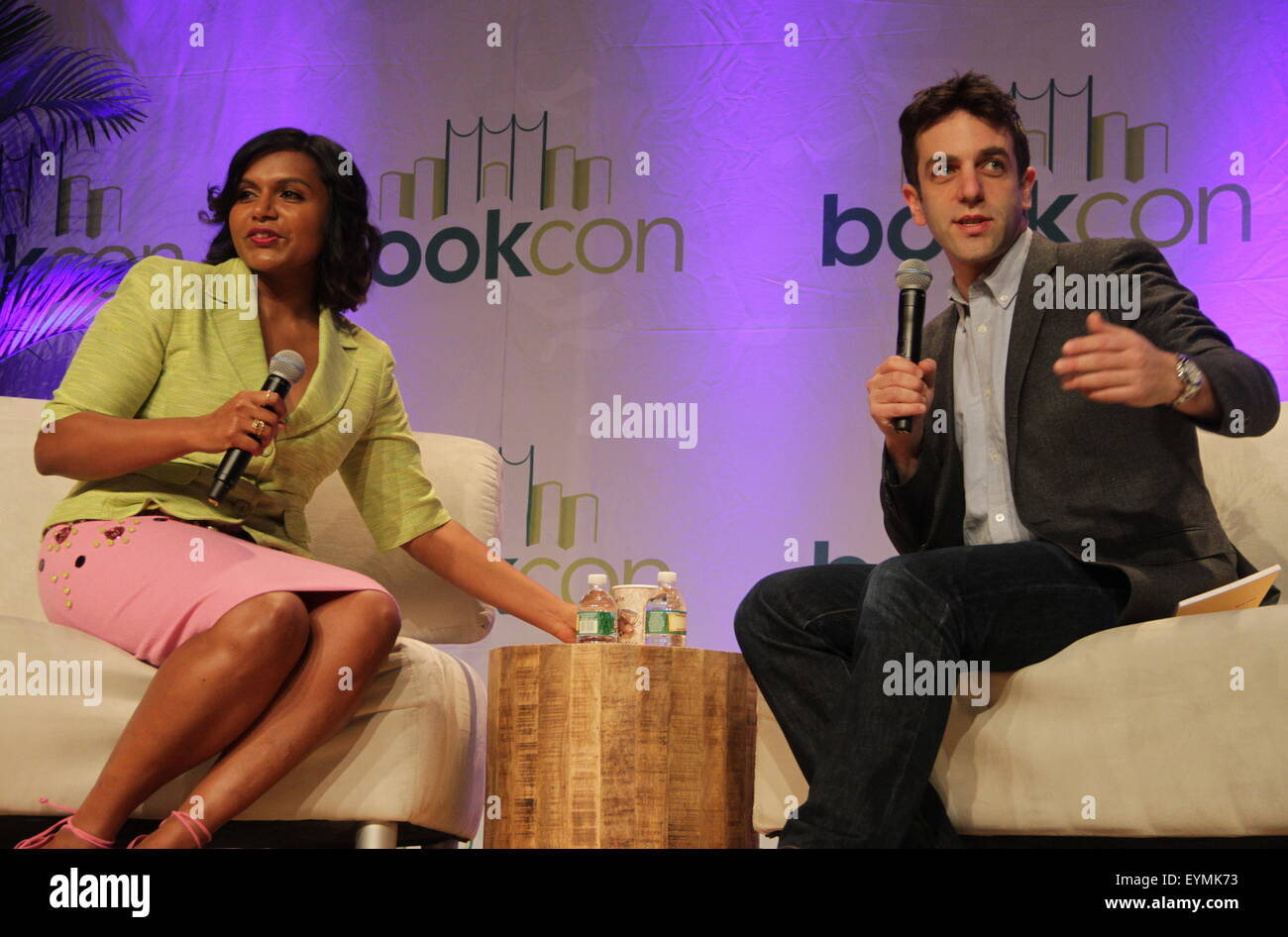 Mindy Kaling And B J Novak Talk About Their New Book Why Not Me Stock Photo Alamy