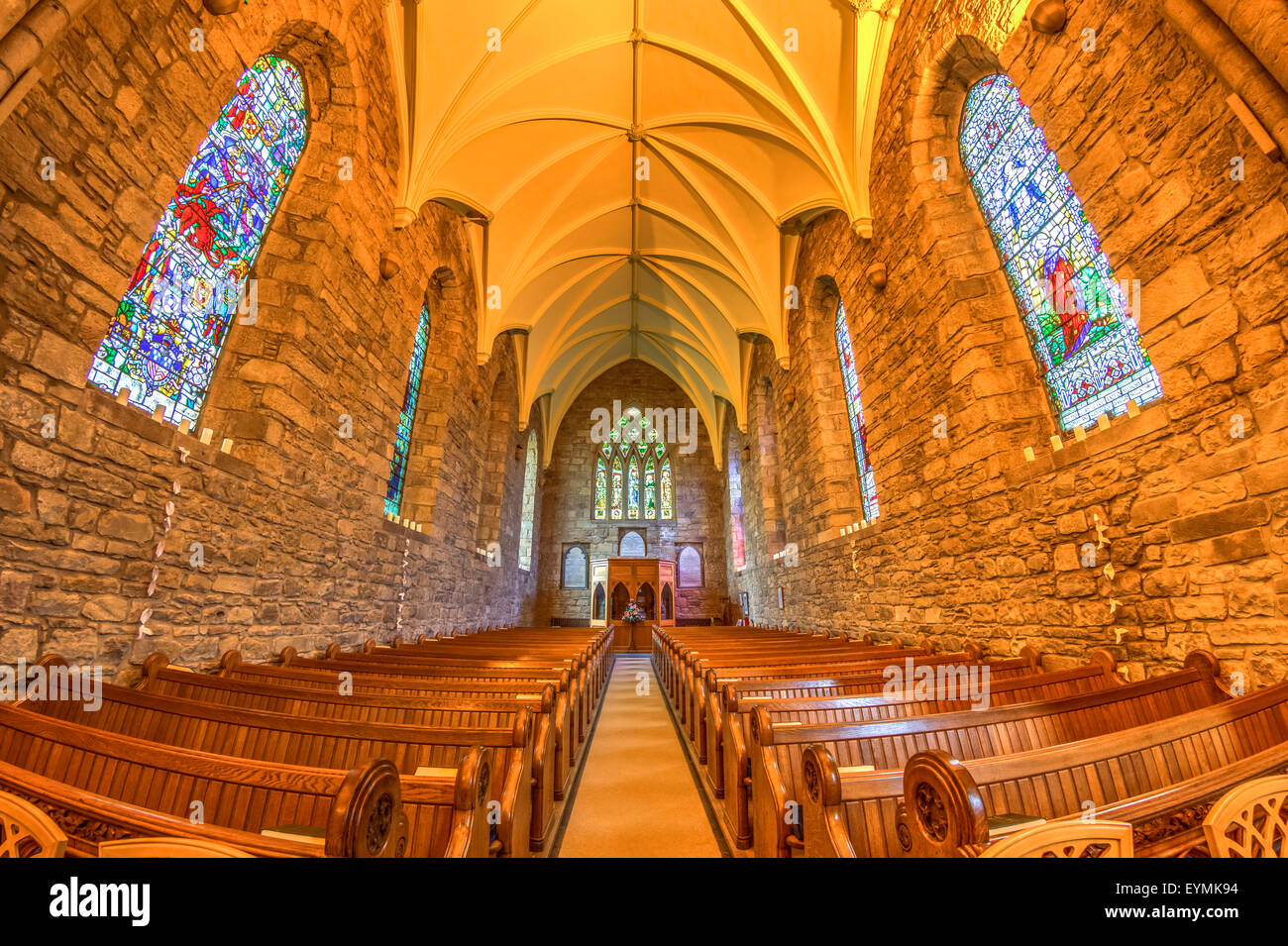 Dornoch Cathedral Scottish Highlands Stock Photo