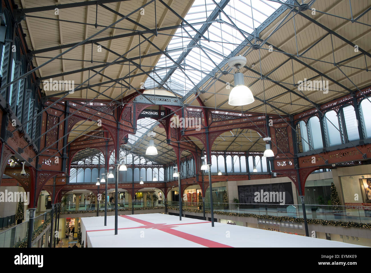 Market hall in the lancashire town of Bolton is a shopping mall , it was orginally opened in 1855, lancashire,england - Stock Image