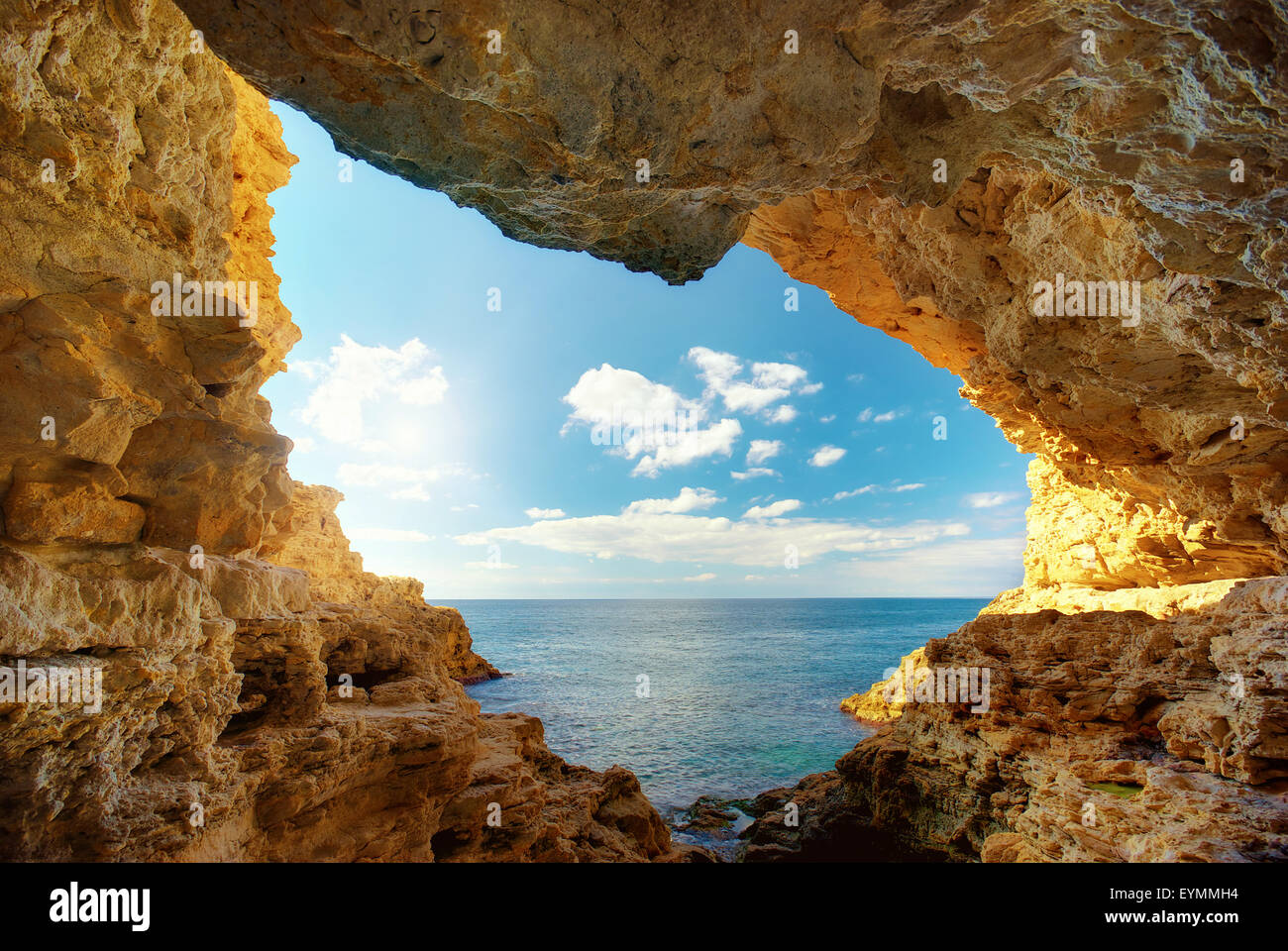 Inside of mainsail. Nature composition. - Stock Image