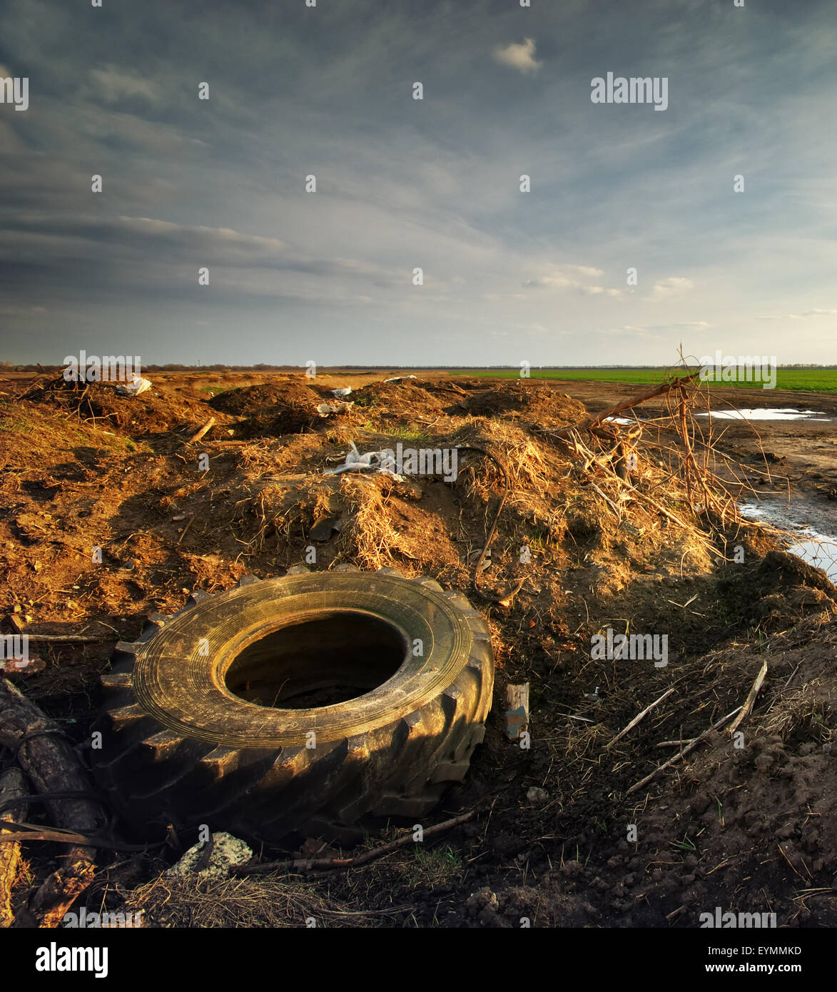Ecology problem. Conceptual scene. Heap of rubbish. - Stock Image