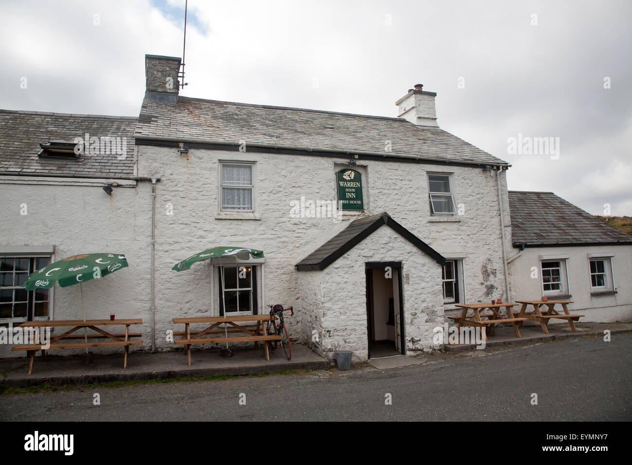Warren House Inn, Postbridge, Dartmoor national park, Devon, England, UK - Stock Image