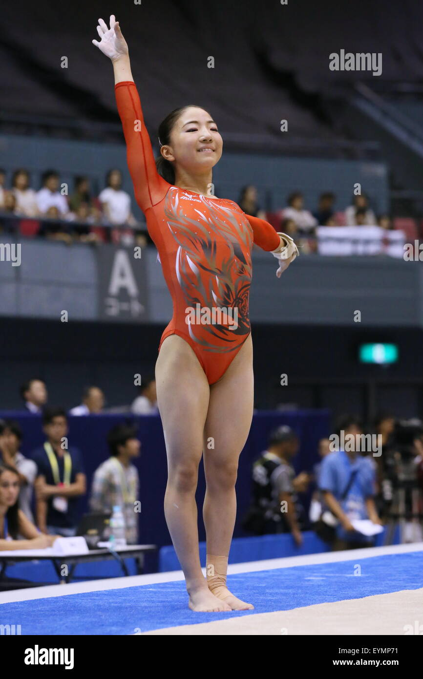 Asuka Teramoto (JPN) Artistic Gymnastics : The 6th Asian Gymnastics  Championships Women's Individual All-Around and Team Floor in Hiroshima,  Japan .
