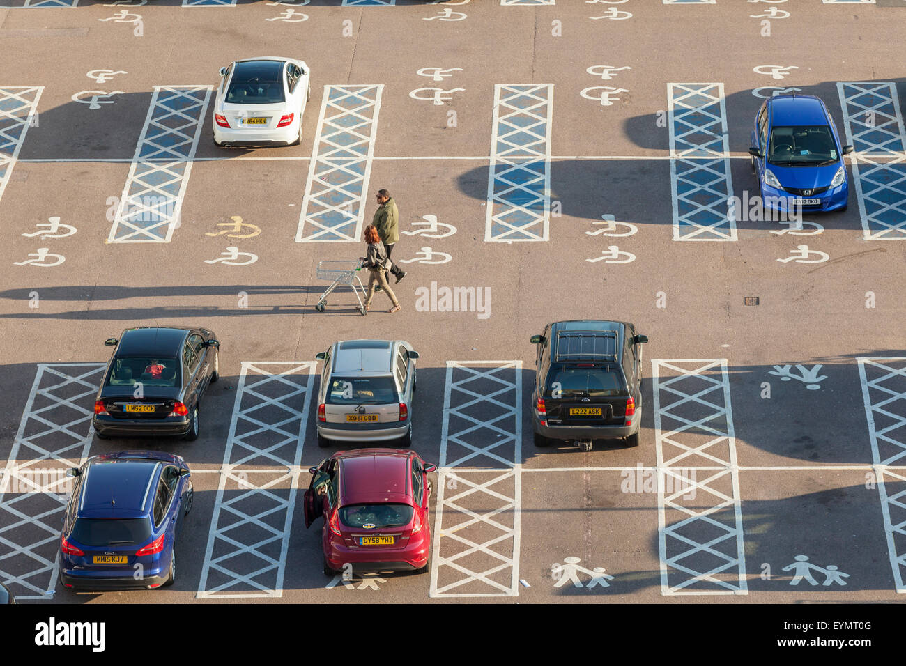 Car park at Brighton Marina, East Sussex, England. - Stock Image