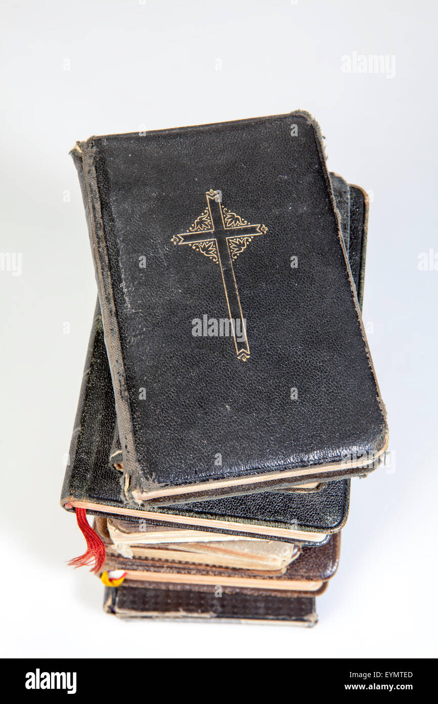 Old Catholic prayer books - Stock Image