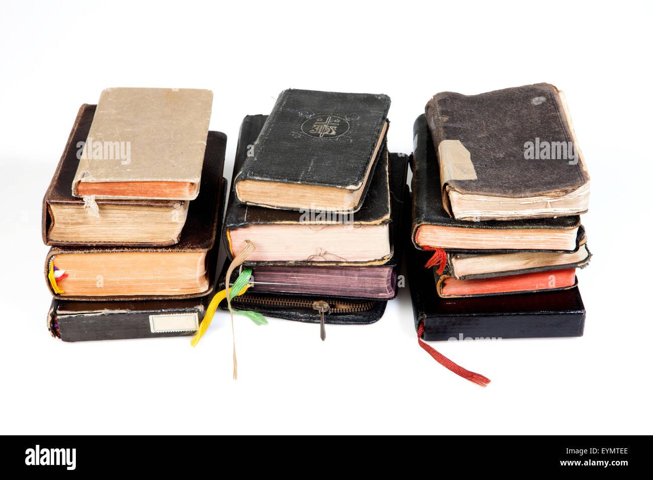 Old Catholic prayer books - Stock Image