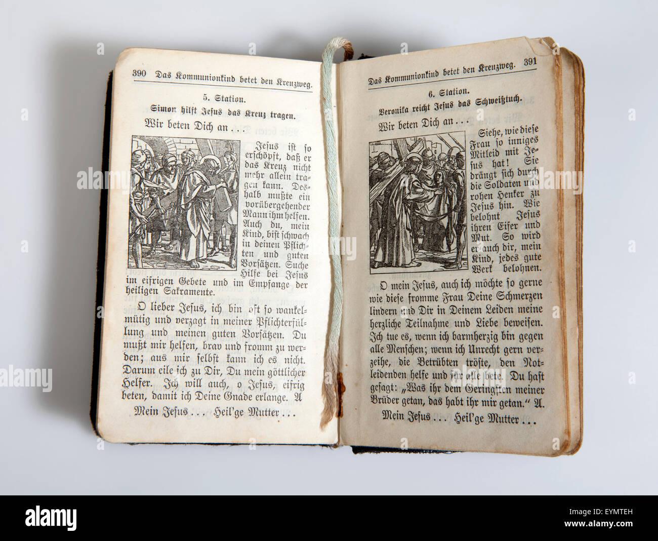 Old Catholic prayer book - Stock Image