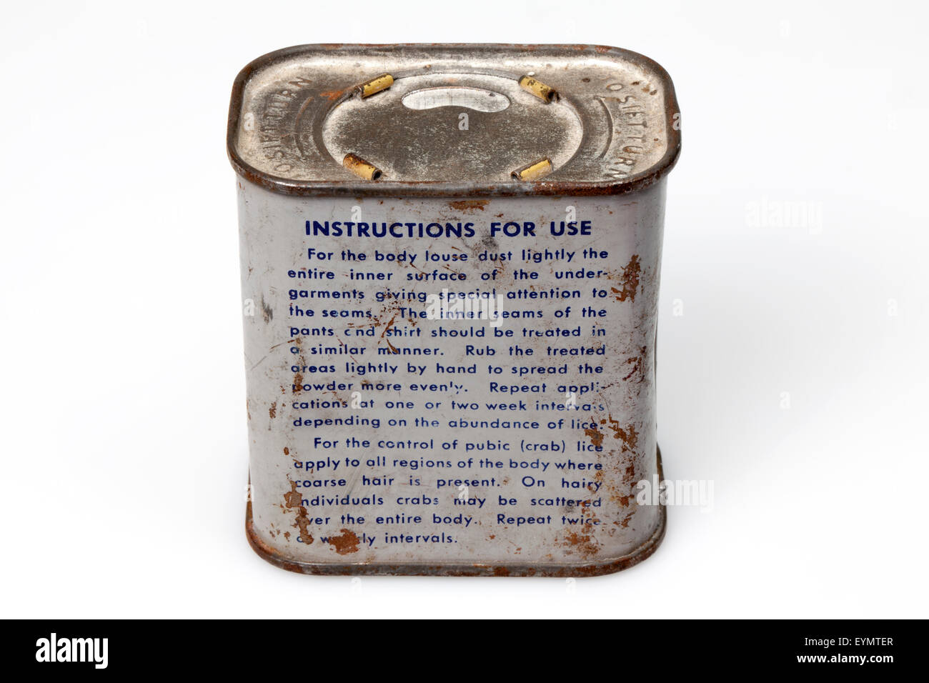 American insecticide for Prisoner of war, 2nd world war - Stock Image